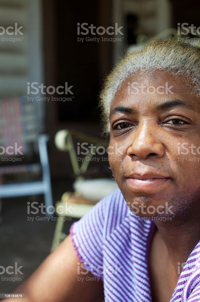 Portrait of African American Senior Woman royalty-free stock photo