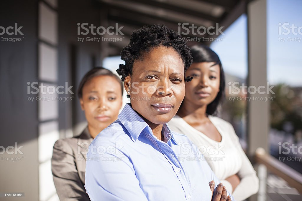 Portrait of African Businesswoman Team royalty-free stock photo
