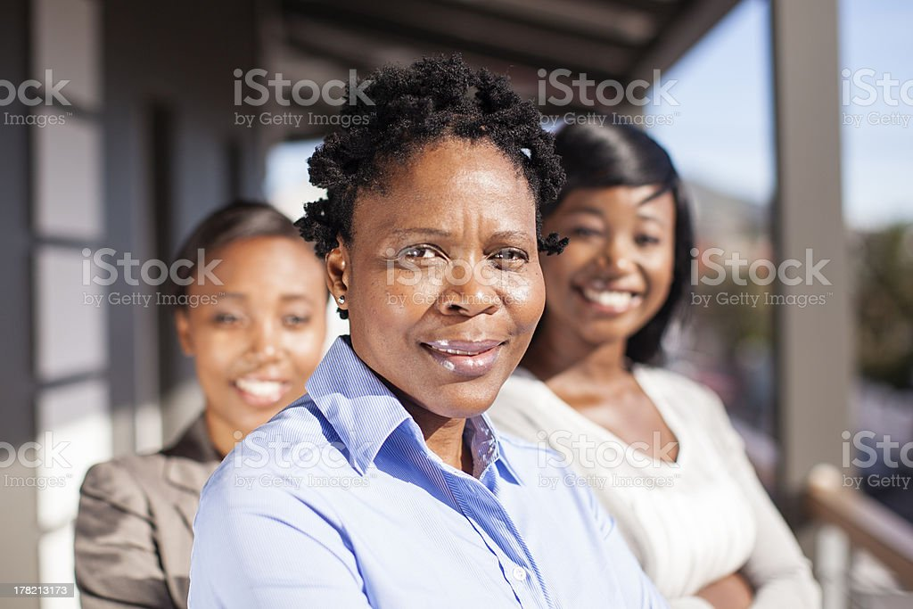 Portrait of African Female Executives royalty-free stock photo