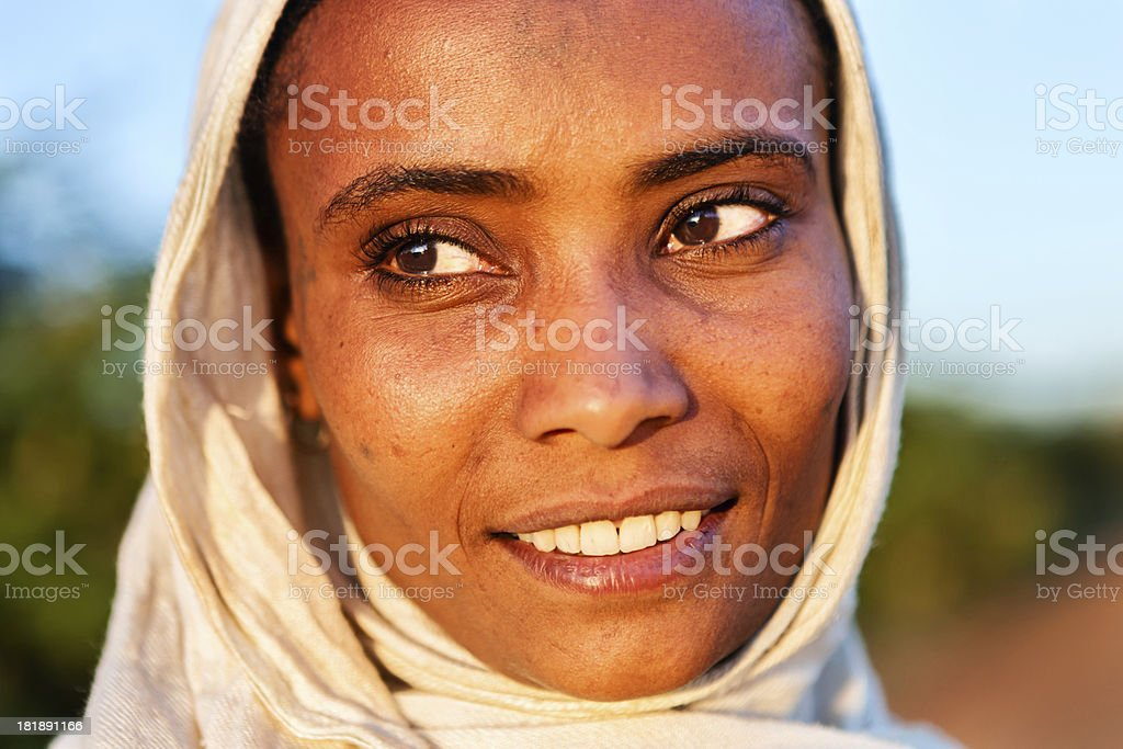 Portrait of  African woman, East Africa royalty-free stock photo