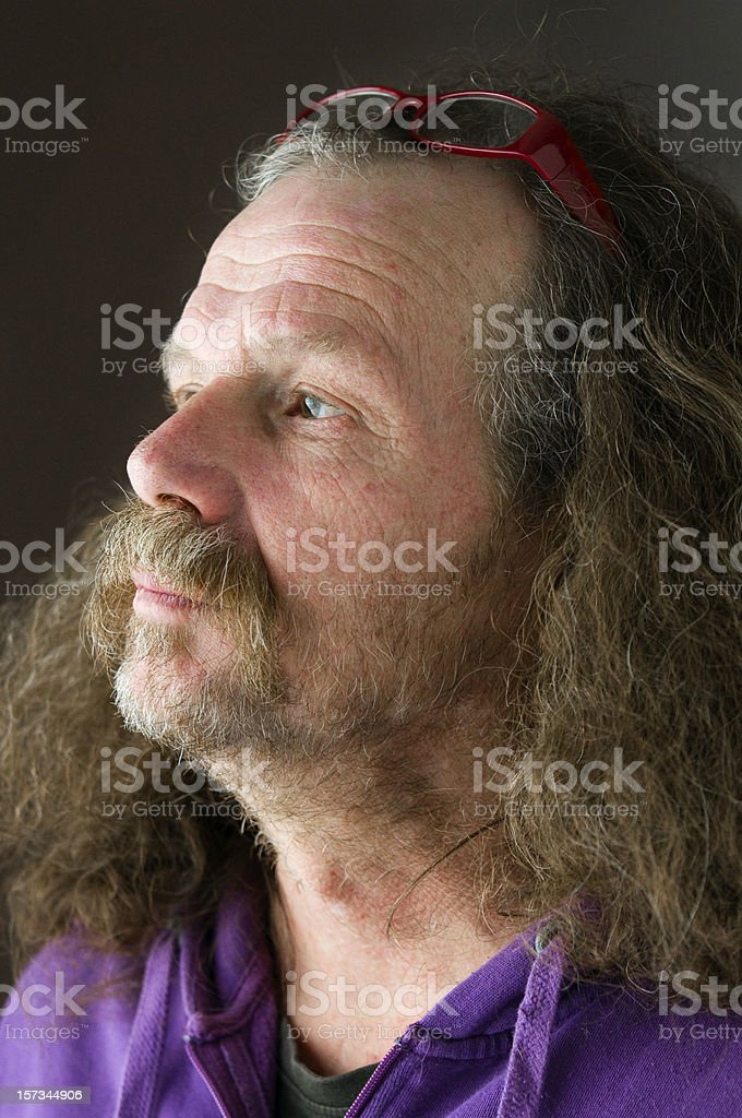 portrait of aged man wiht glasses royalty-free stock photo