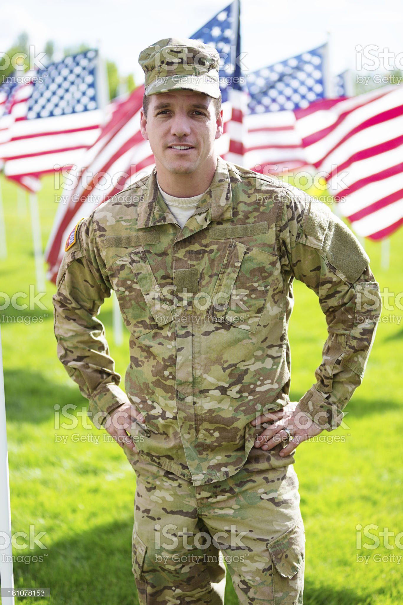 Portrait of American Soldier royalty-free stock photo