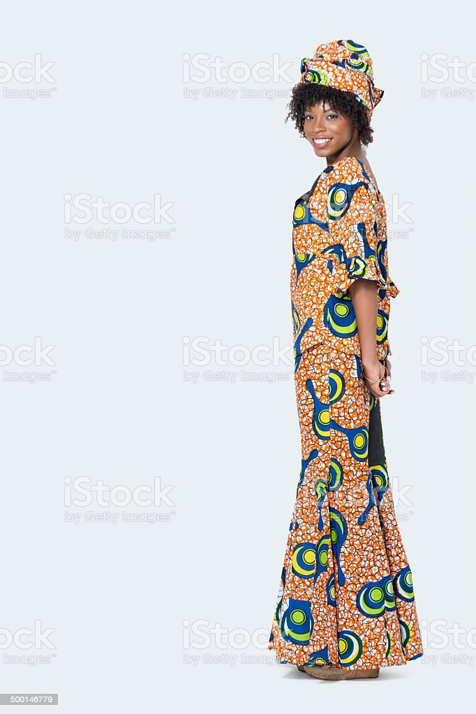portrait of an African American woman stock photo
