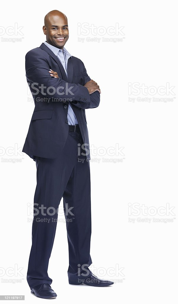Portrait of an African American young businessman royalty-free stock photo