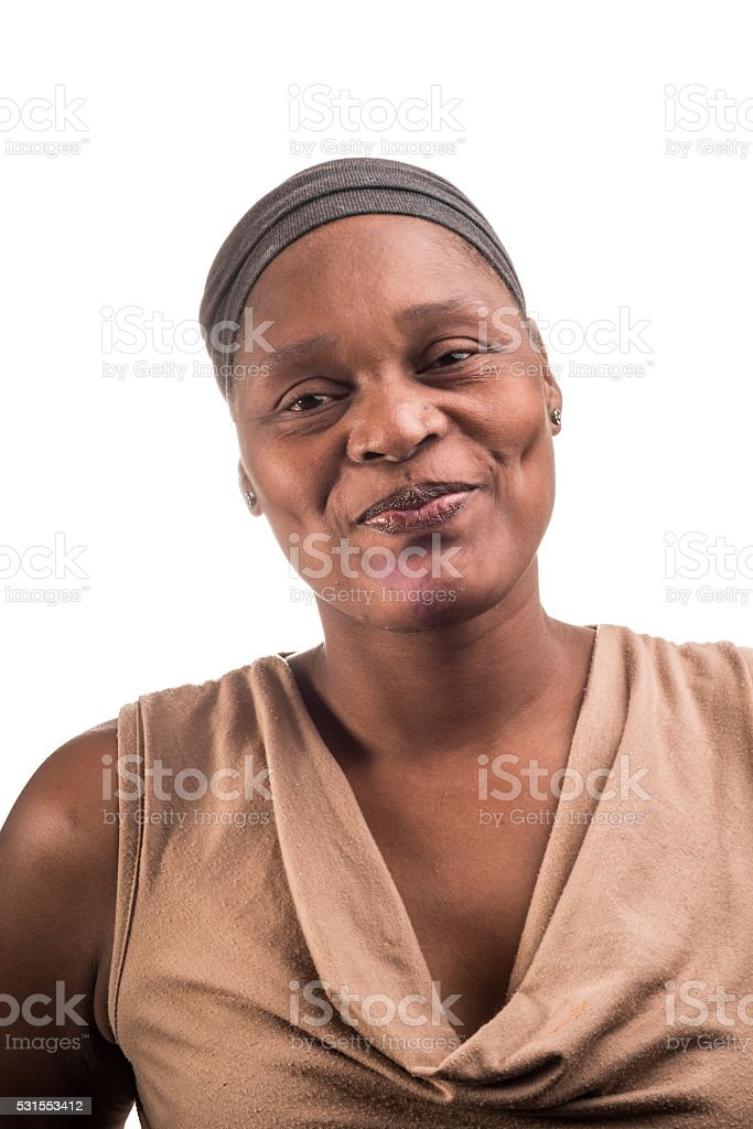 Portrait of an African Lady stock photo