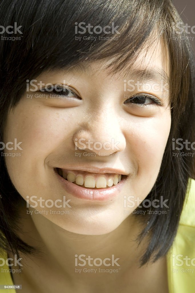 Portrait of an aisan girl royalty-free stock photo