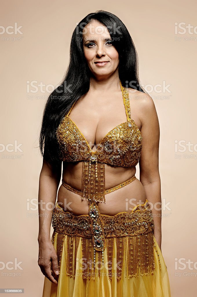 Portrait of an algerian belly performer royalty-free stock photo