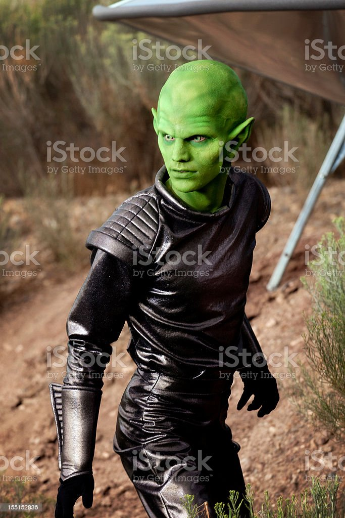 Portrait of an Alien royalty-free stock photo