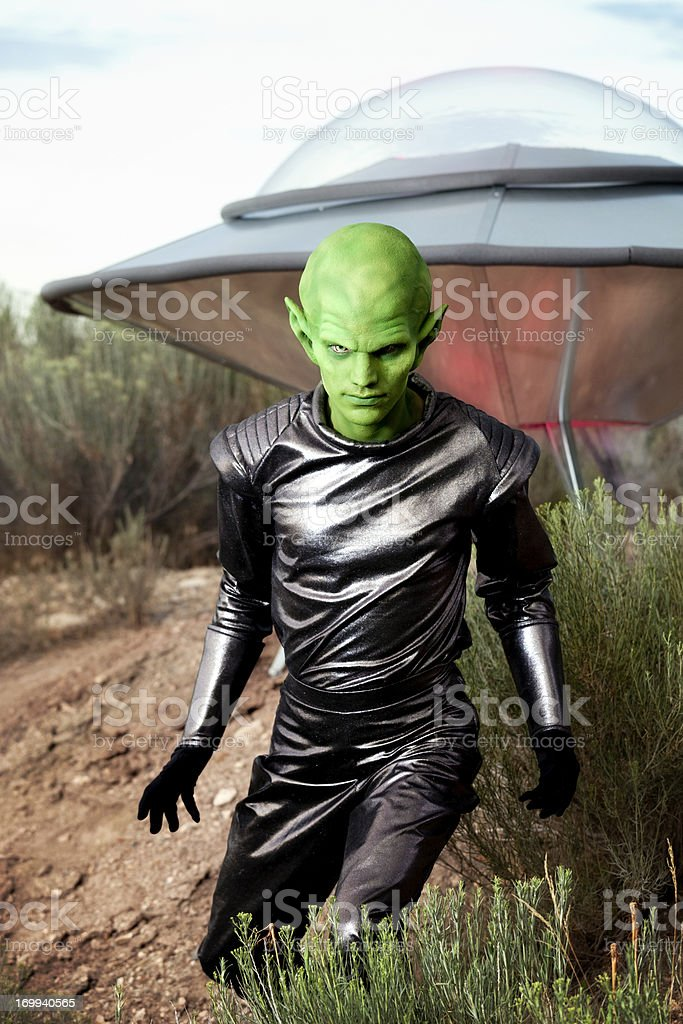 Portrait of an Alien stock photo