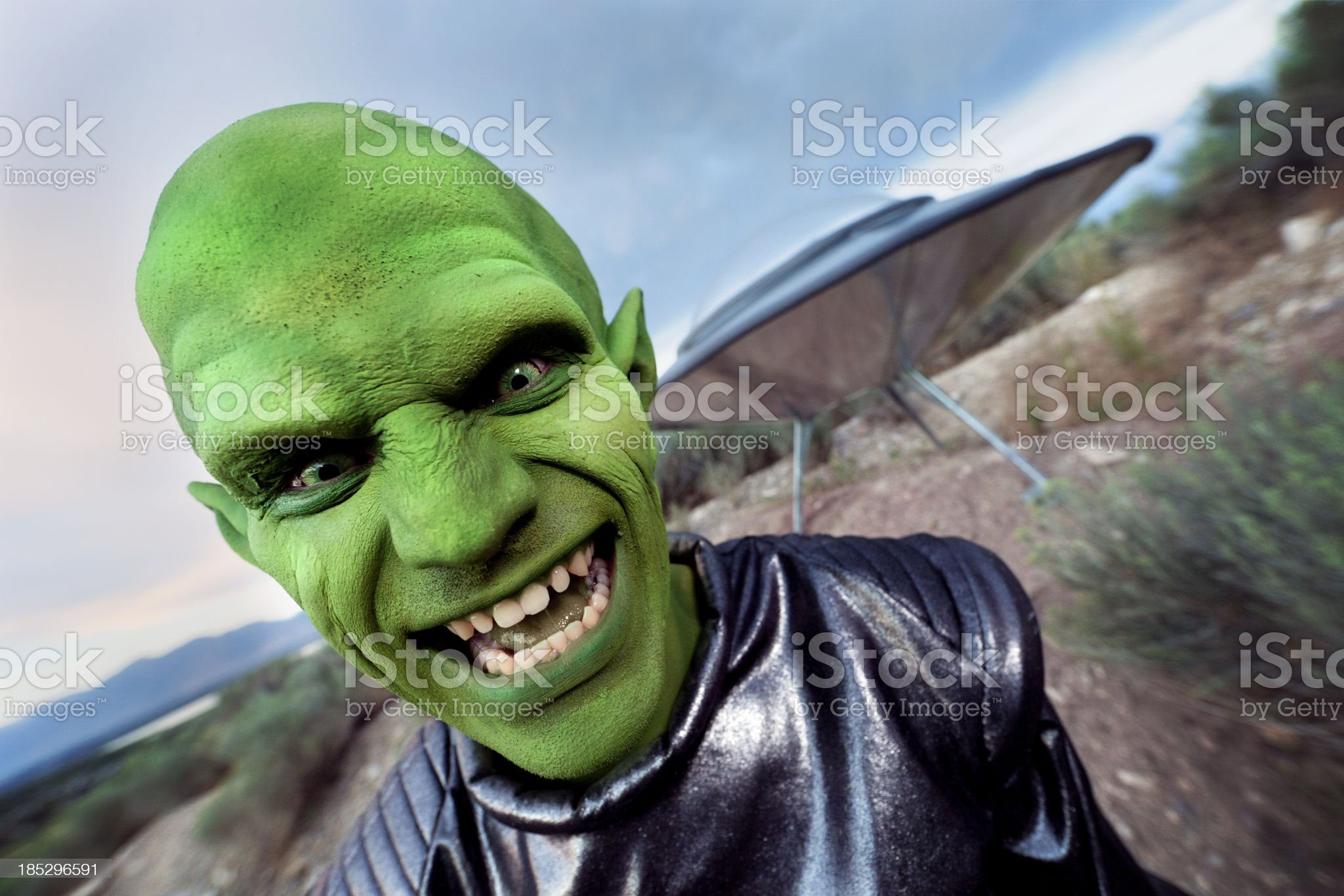 Portrait of an Alien royalty-free stock photo