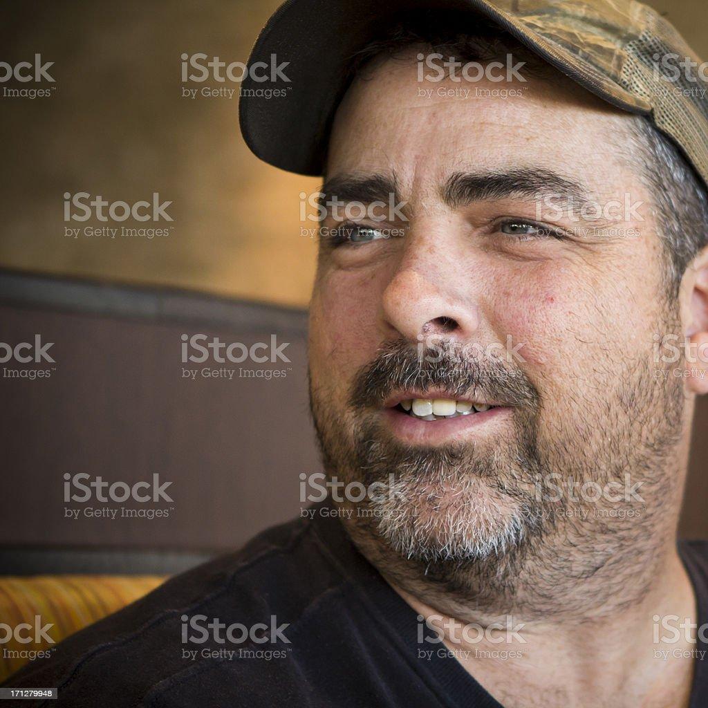 Portrait of an American Redneck stock photo