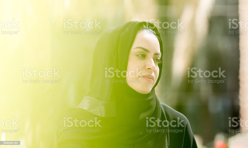 Portrait of an Arab Lady stock photo