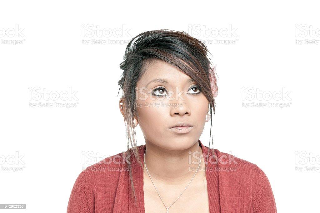Portrait Of An Asian  American Teenger stock photo