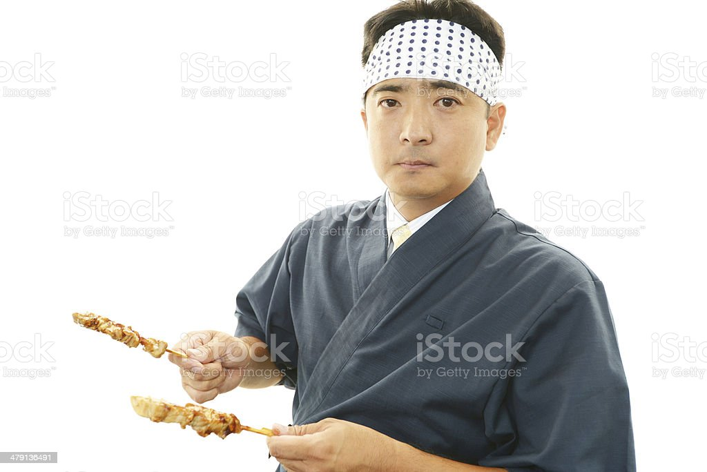 Portrait of an Asian cook stock photo