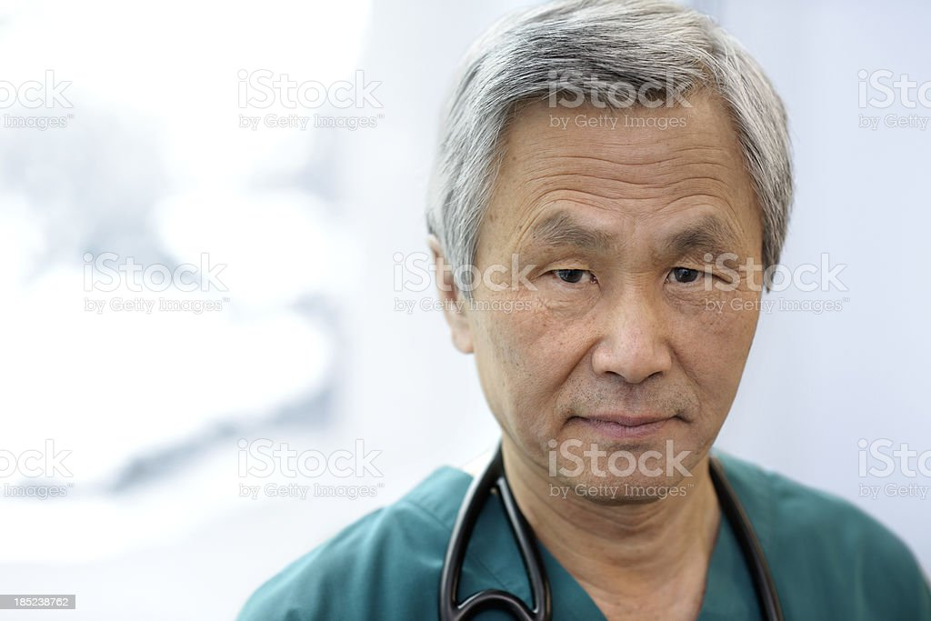 Portrait of an Asian Doctor royalty-free stock photo