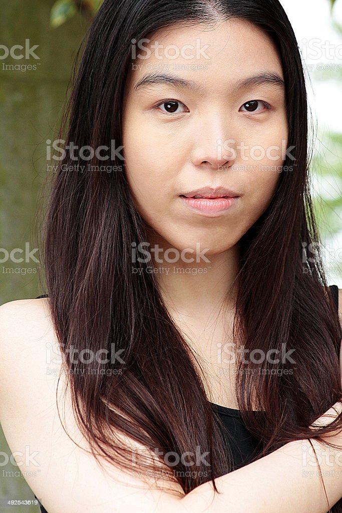 Ritratto di una donna asiatica foto stock royalty-free