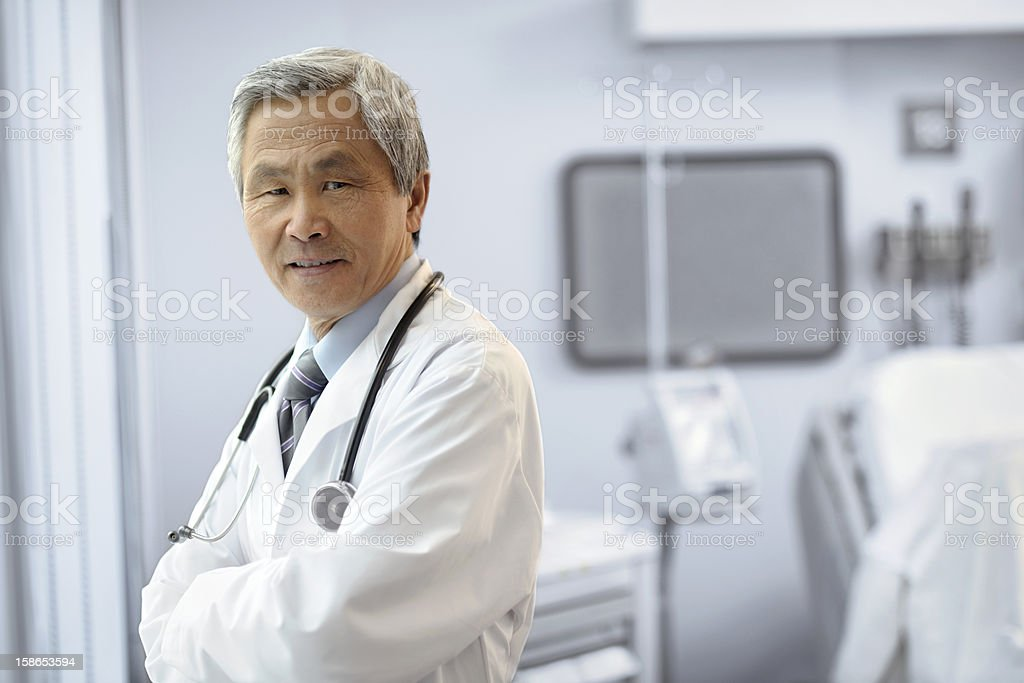 Portrait of an Asian Male Doctor royalty-free stock photo