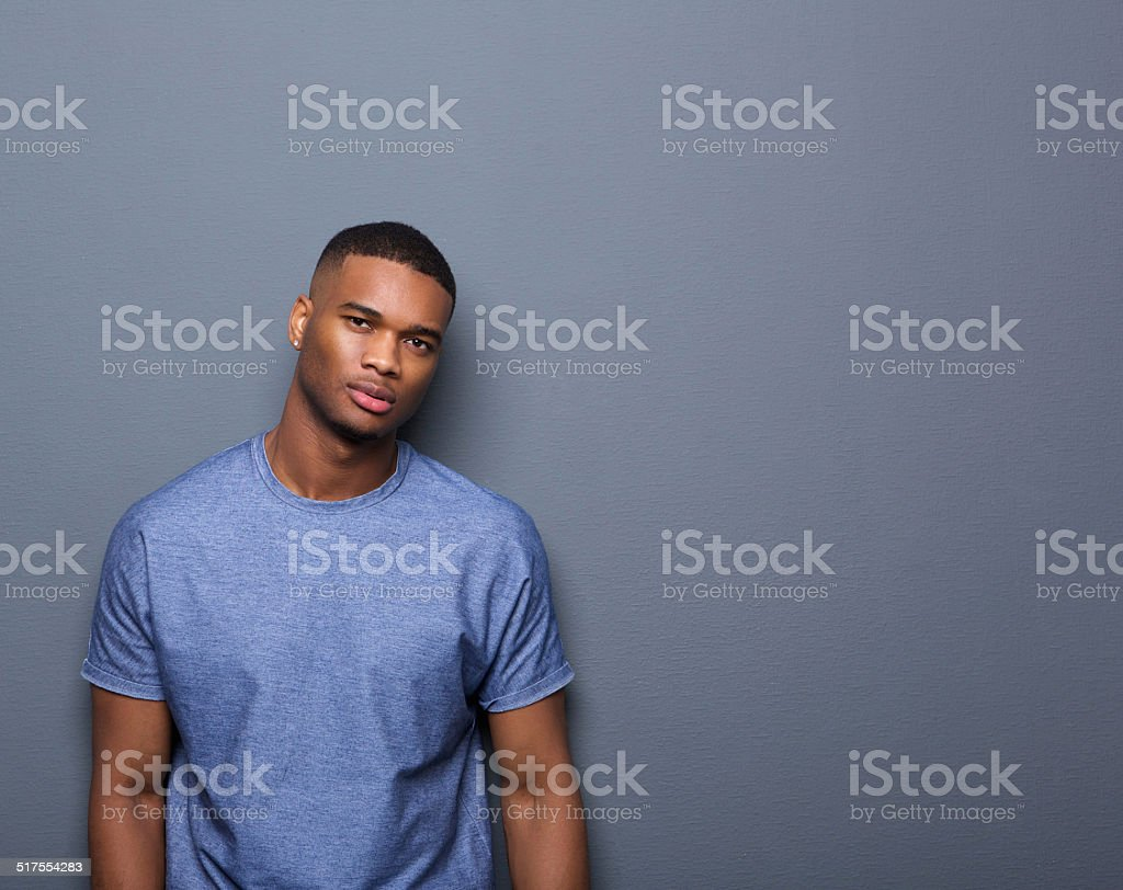 Portrait of an attractive african american man stock photo