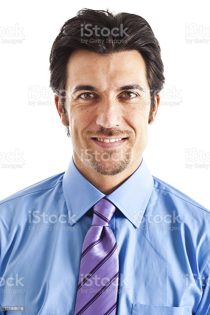 Portrait of an attractive businessman isolated on white royalty-free stock photo