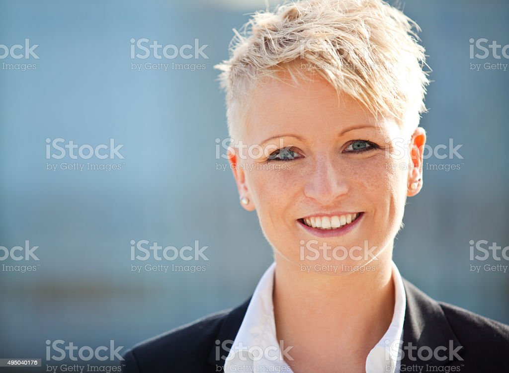 Portrait of an attractive businesswoman stock photo