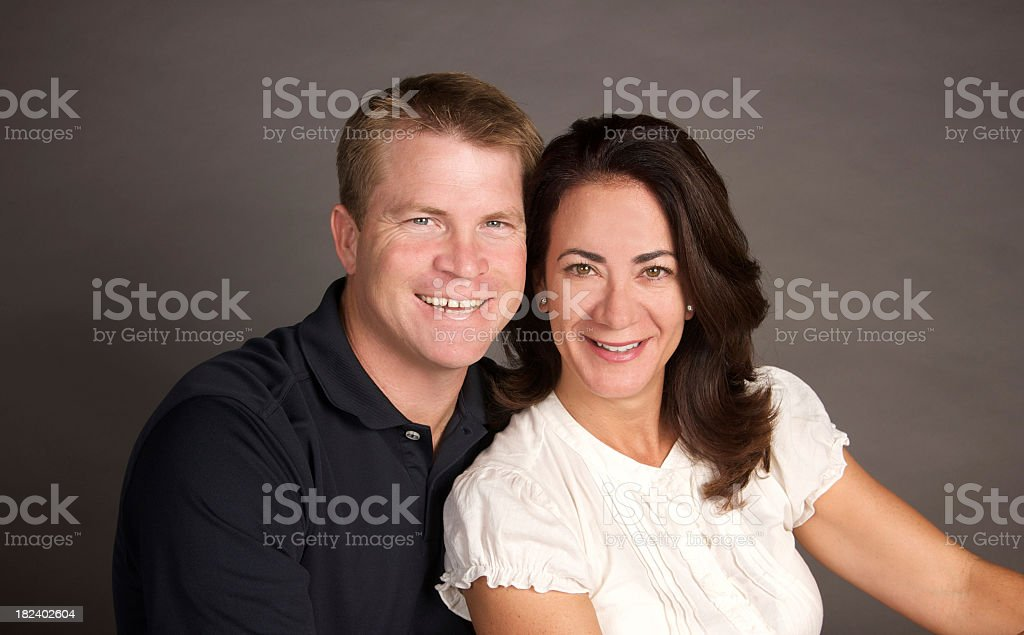 Portrait of an Attractive Couple in Their Forties royalty-free stock photo
