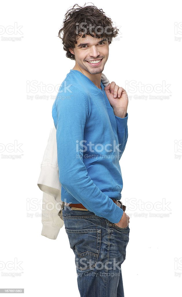 Portrait of an Attractive Man Smiling royalty-free stock photo