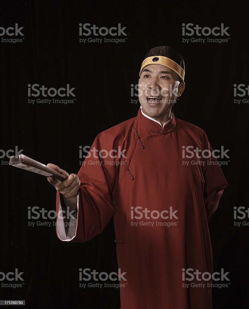 portrait of an attractive storytelling actor stock photo