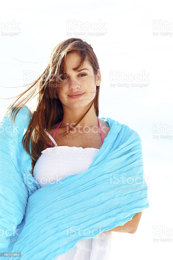Portrait of an attractive young woman with copy space royalty-free stock photo