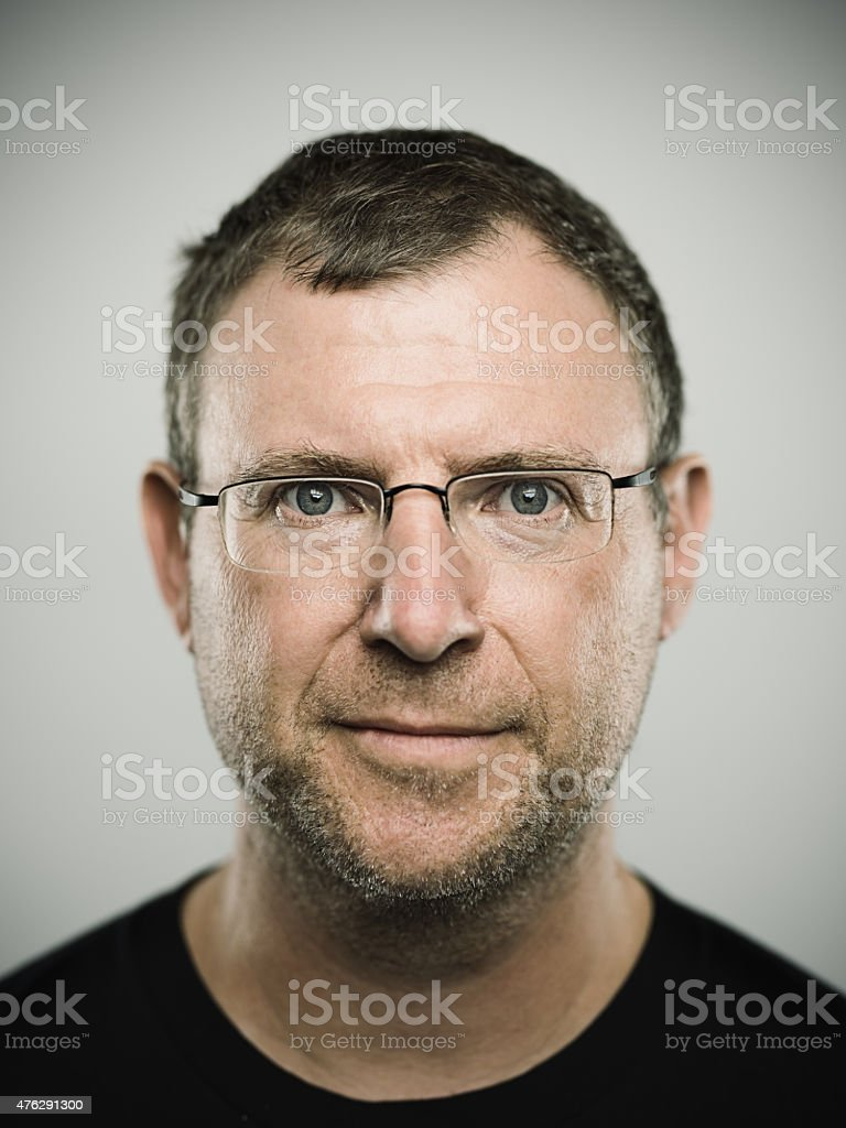 Portrait of an australian real man stock photo