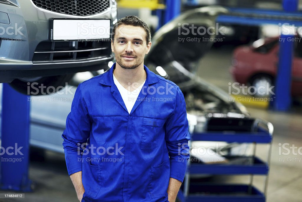 Portrait of an auto professional royalty-free stock photo