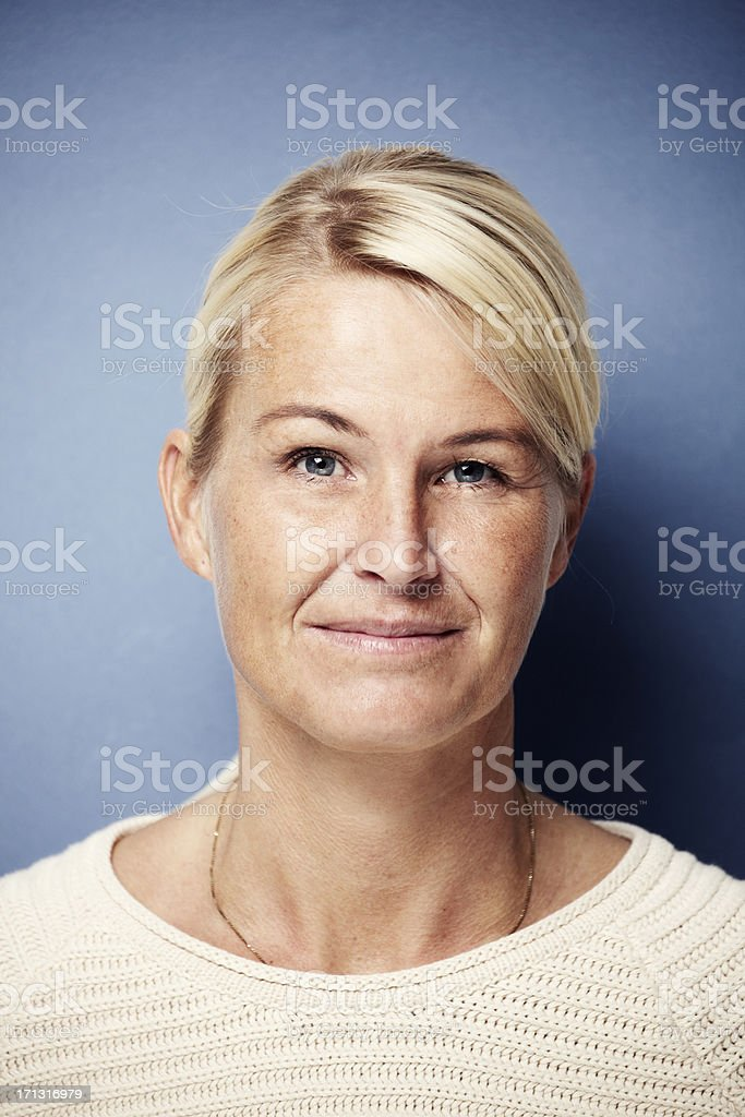 Portrait of an average female in her 30's royalty-free stock photo
