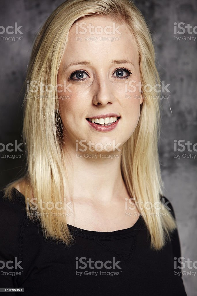 Portrait of an average female royalty-free stock photo