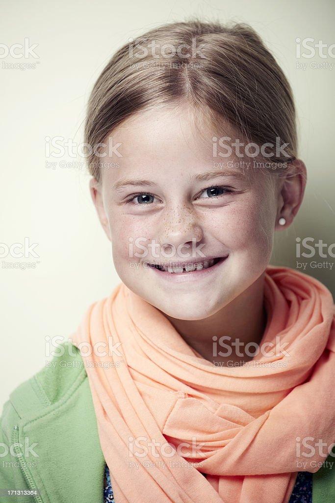 Portrait of an average girl stock photo
