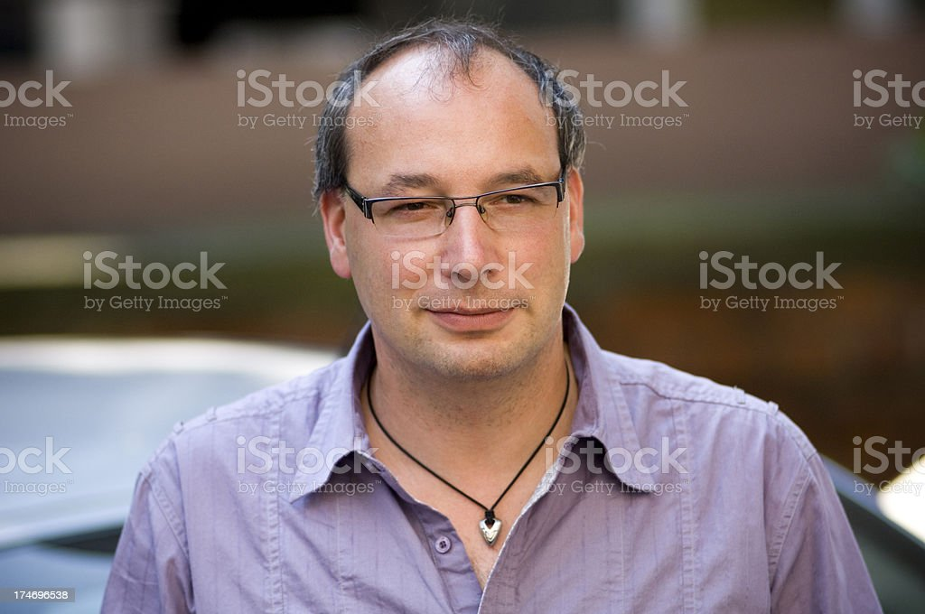 Portrait of an average man royalty-free stock photo