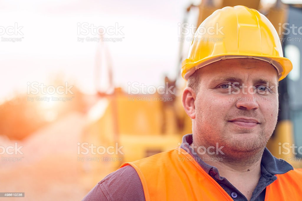 Portrait of an Earth Digger Driver stock photo