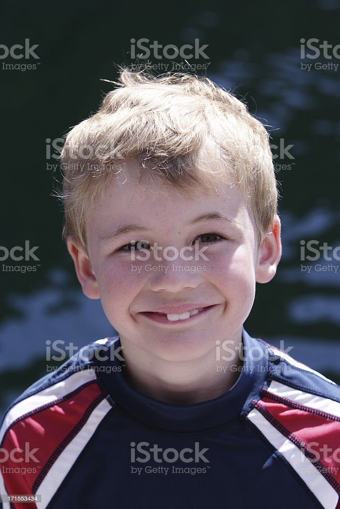 portrait of an eight year old boy royalty-free stock photo