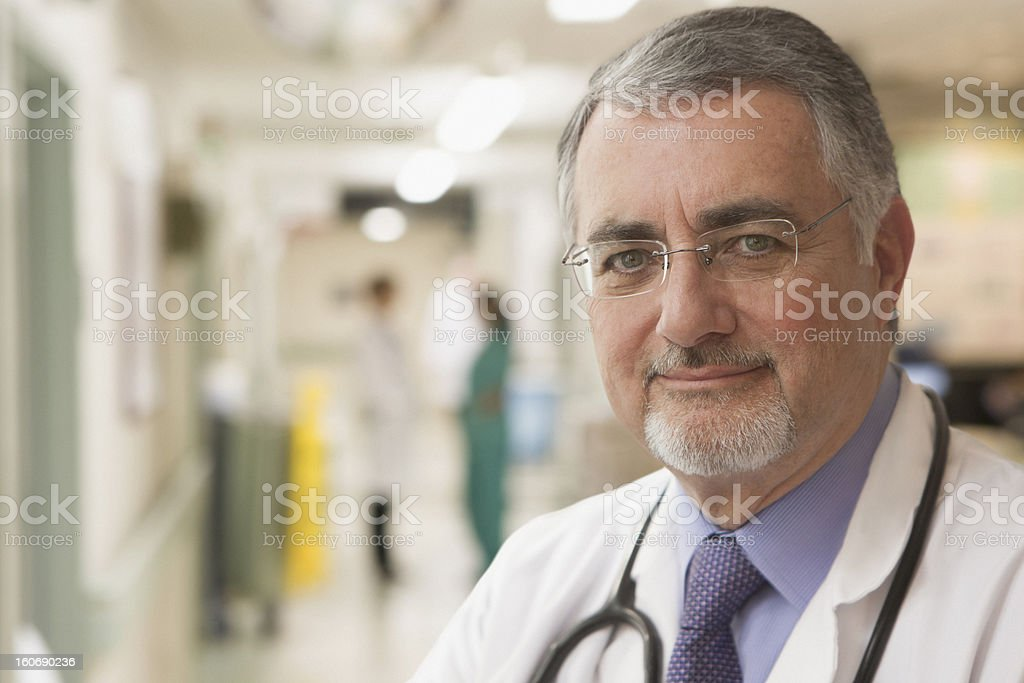 Portrait of an elderly doctor royalty-free stock photo