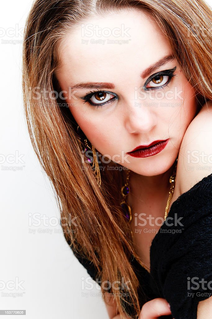 Portrait of an elegant young woman royalty-free stock photo
