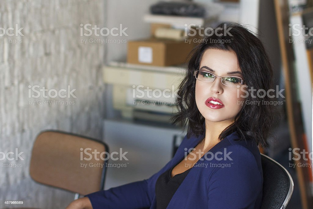 Portrait of an executive businesswoman royalty-free stock photo