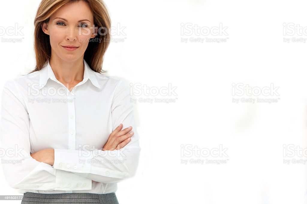 Portrait of an executive woman - Isolated stock photo