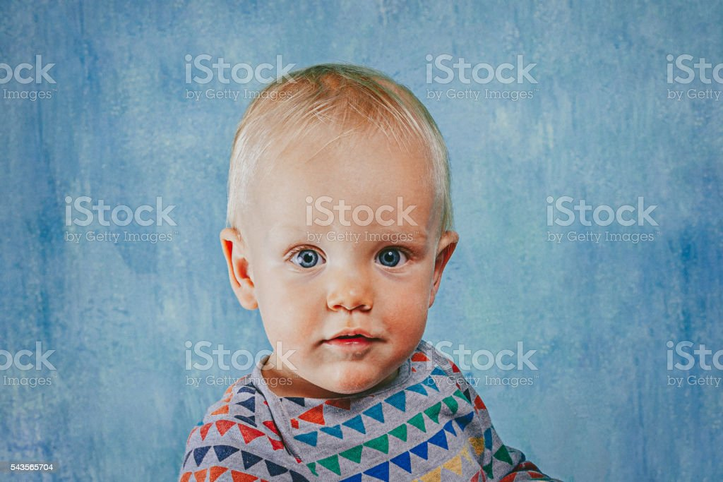 Portrait of an happy adorable baby stock photo