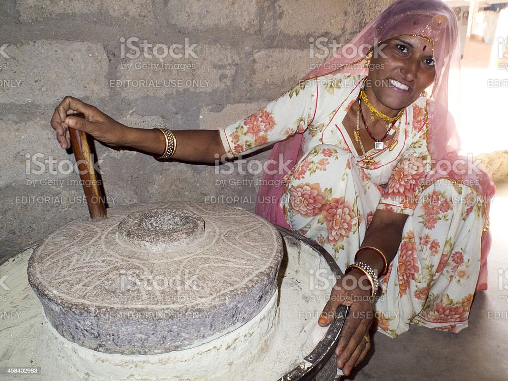 Portrait of an Indian woman. stock photo