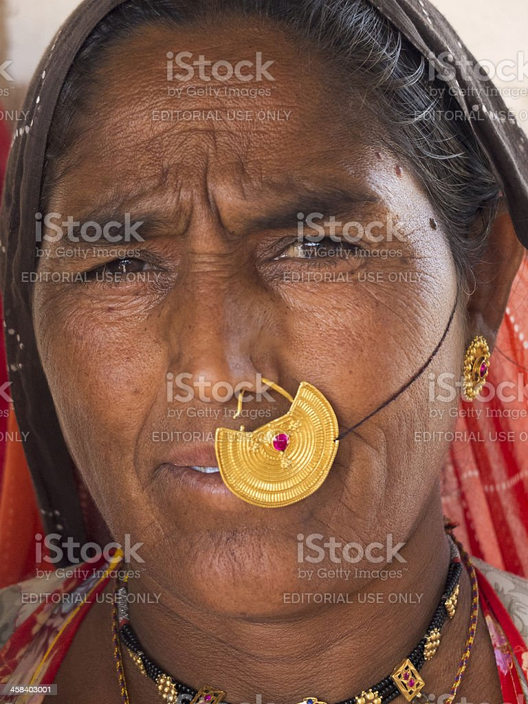 Portrait of an Indian woman. royalty-free stock photo