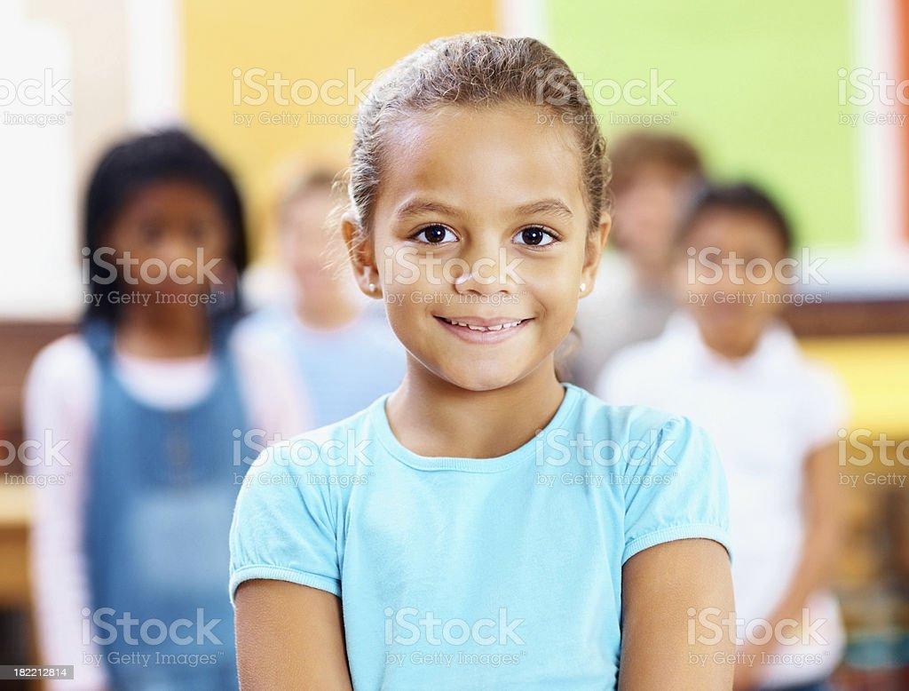 Portrait of an innocent school girl royalty-free stock photo