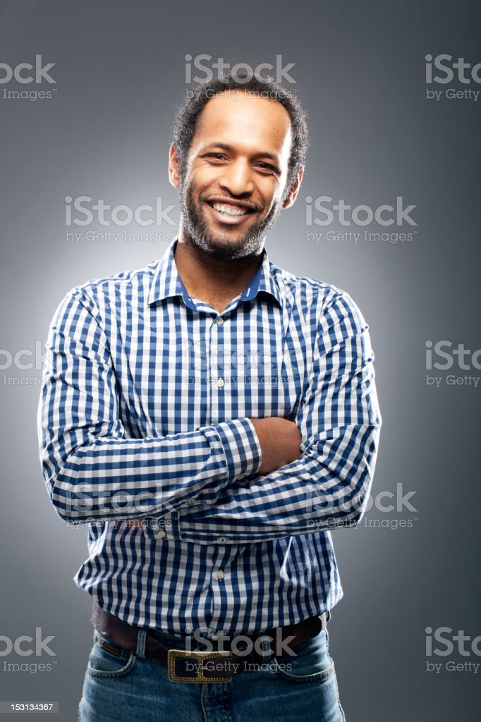 Portrait of an north african stock photo