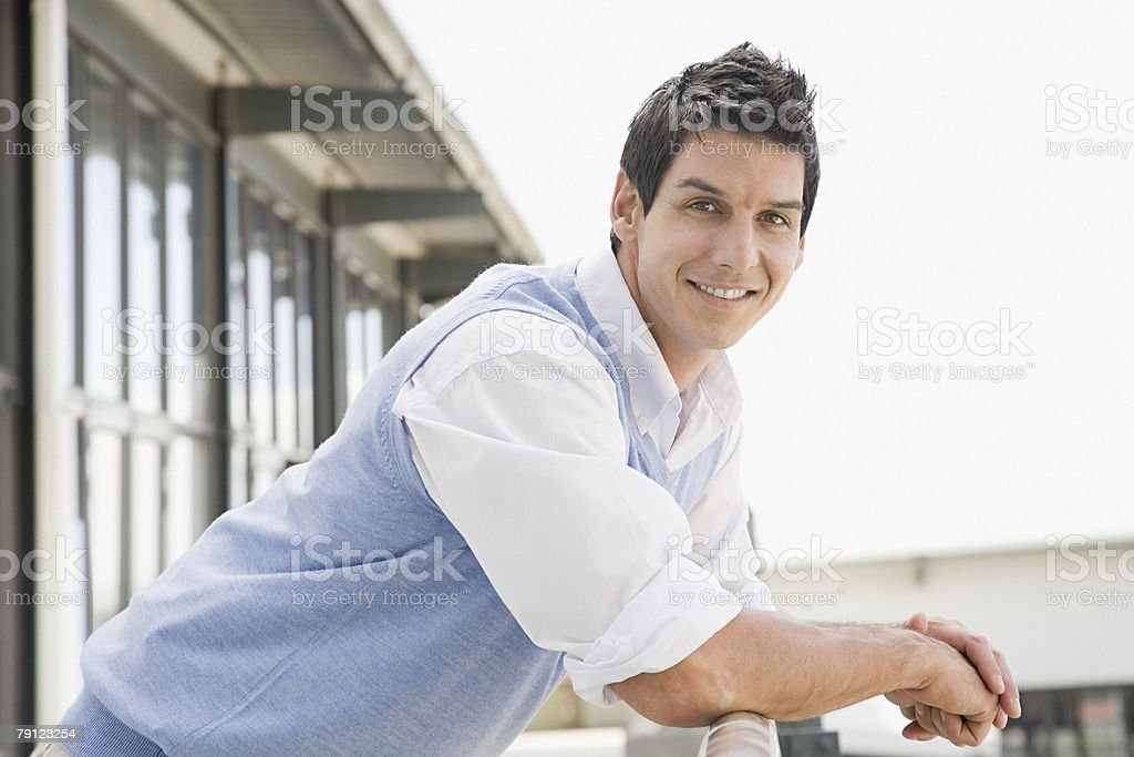 Portrait of an office worker stock photo