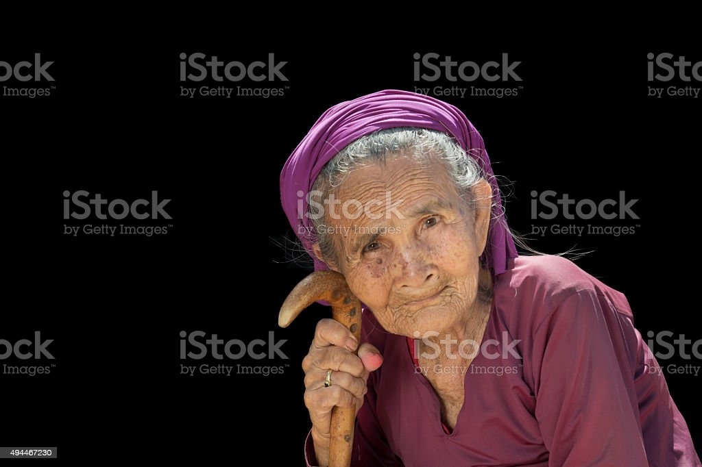 Portrait of an Old Lady stock photo