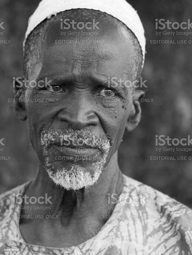 Portrait of an old man stock photo