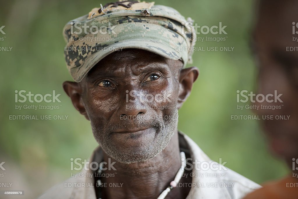 Portrait of an old man royalty-free stock photo