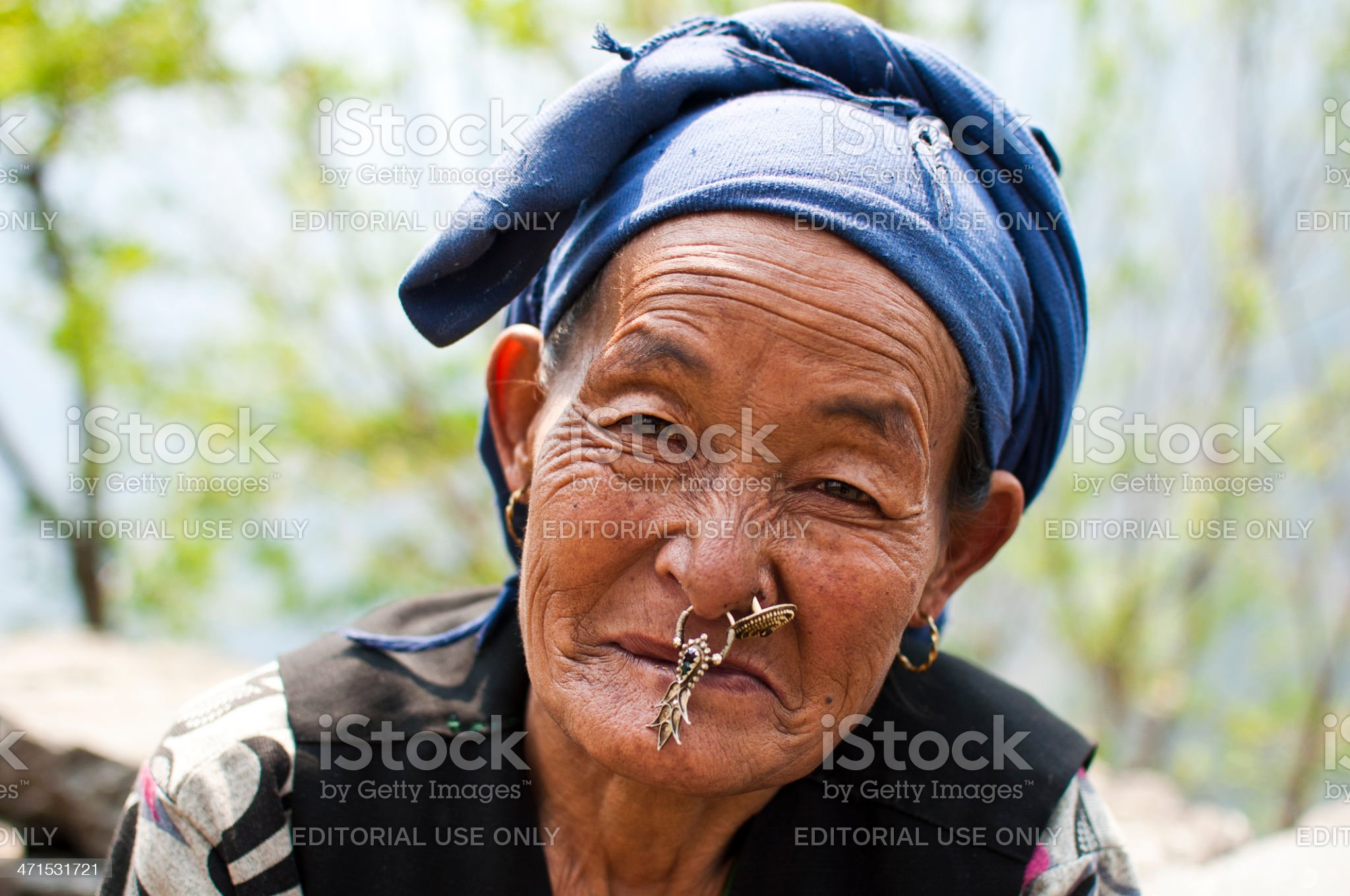 Portrait of an Old Nepali Sherpa Woman royalty-free stock photo